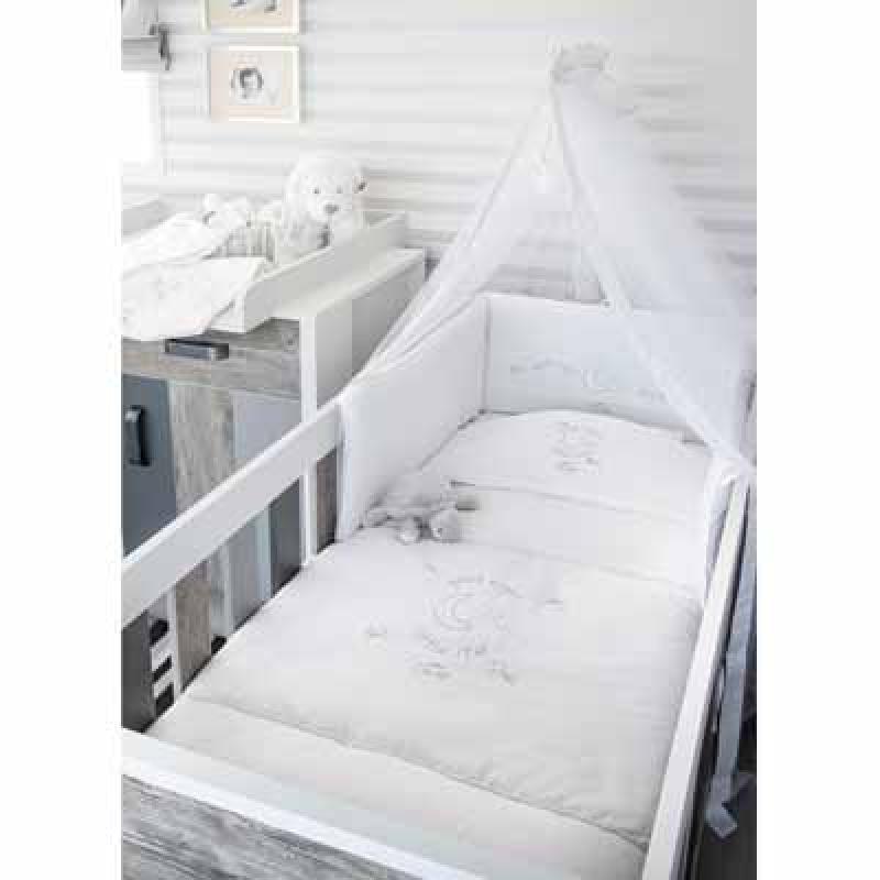 Baby Oliver Σεντόνια Καλαθούνας-λίκνου Silver Moon 609 baby oliver - 609-6704 home   away   λευκά είδη βρεφικά   σέτ προίκας μωρού
