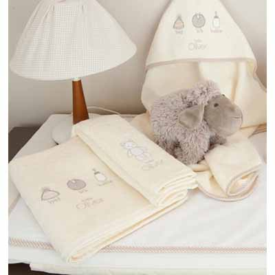Baby Oliver Σετ πετσετών 2τεμ.Little Things 610 Baby Oliver - 610-6760 home   away   λευκά είδη βρεφικά   σέτ προίκας μωρού