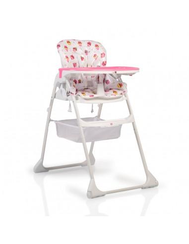Κάθισμα φαγητού - καρεκλάκι 2σε1 Moni Berry pink home   away   καρέκλα φαγητού