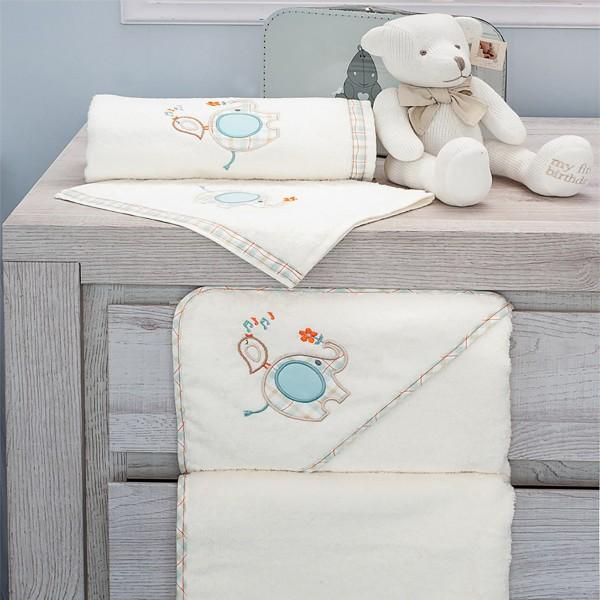 Πετσέτες Μπάνιου (Σετ 2τμχ) Baby Oliver Elephant Des 140 home   away   λευκά είδη   λευκά είδη βρεφικά   πετσέτες βρεφικές