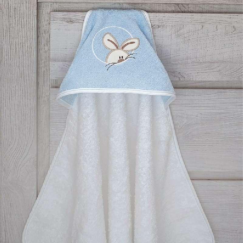 Βρεφική Κάπα Baby Oliver Happy Bunny Des 141 home   away   λευκά είδη   λευκά είδη βρεφικά   μπουρνούζια βρεφικά
