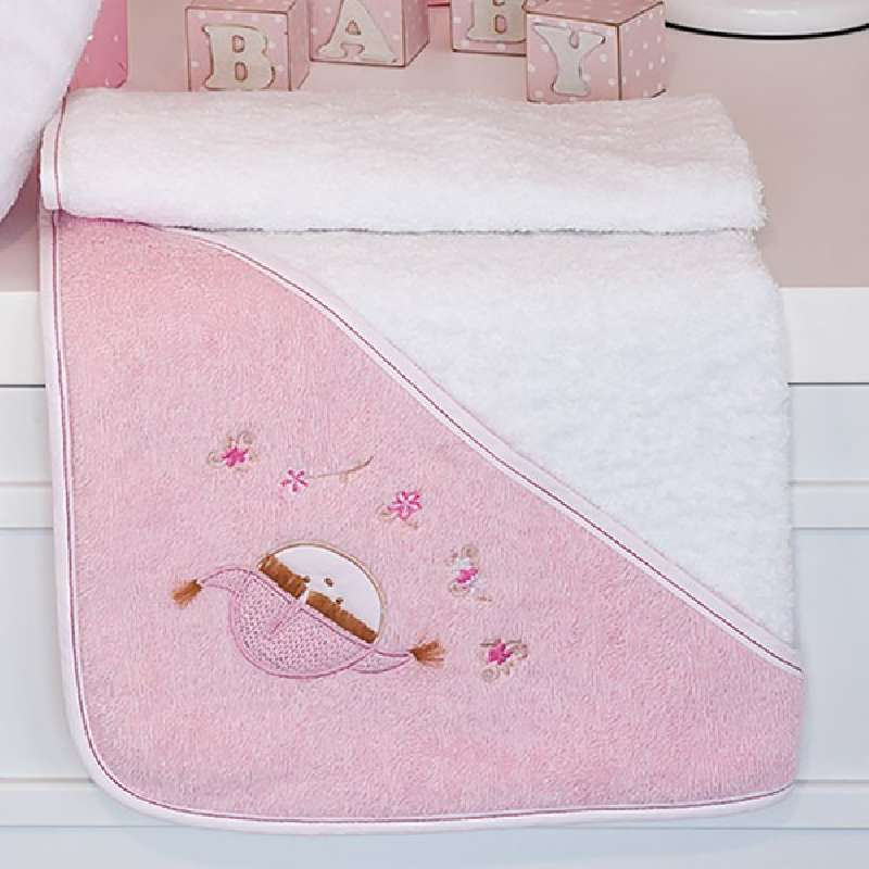 Βρεφική Κάπα Baby Oliver Pink Booboo Des 142 home   away   λευκά είδη   λευκά είδη βρεφικά   μπουρνούζια βρεφικά