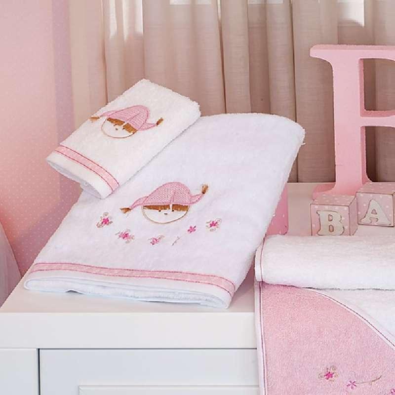 Πετσέτες Μπάνιου (Σετ 2τμχ) Baby Oliver Pink Booboo Des 142 home   away   λευκά είδη   λευκά είδη βρεφικά   πετσέτες βρεφικές