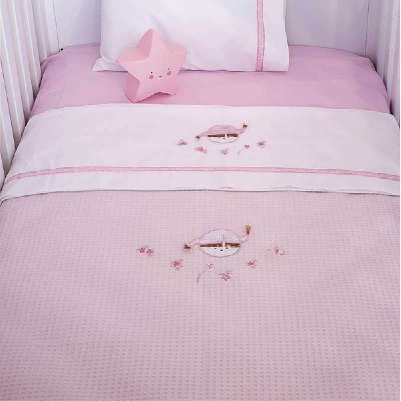 Κουβέρτα Πικέ Αγκαλιάς Baby Oliver Pink Booboo Des 142 home   away   λευκά είδη   λευκά είδη βρεφικά   κουβέρτες βρεφικές