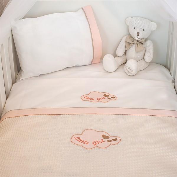 Κουβέρτα Πικέ Αγκαλιάς Baby Oliver Little Girl Des 144