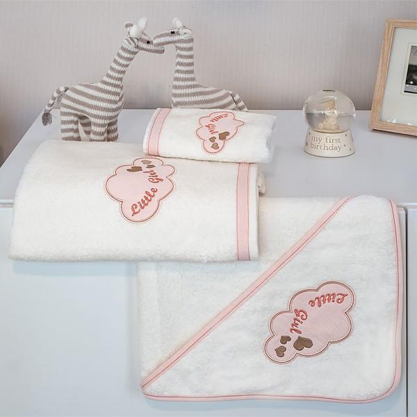 Βρεφικές Πετσέτες (Σετ 2τμχ) Baby Oliver Little Girl Des 144 home   away   λευκά είδη   λευκά είδη βρεφικά   πετσέτες βρεφικές