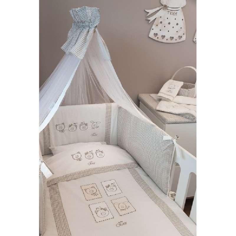 Σετ Κούνιας 3τμχ Baby Oliver Mr.Wolf & Co 305 home   away   λευκά είδη   λευκά είδη βρεφικά   σέτ προίκας μωρού
