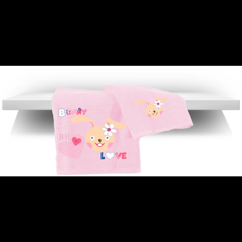 Πετσέτες βρεφικές σετ 2 τμχ 5080 Bunny Beauty Home home   away   λευκά είδη   λευκά είδη βρεφικά   πετσέτες βρεφικές