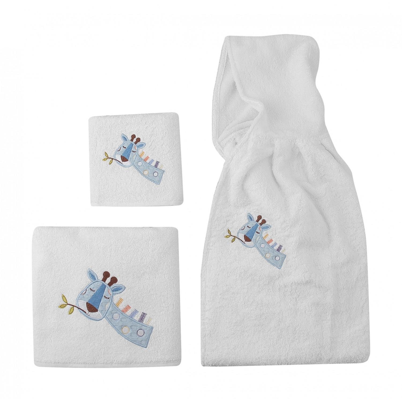 Πετσέτες βρεφικές κεντητές σετ 2 τμχ 5105 Great adventure Beauty Home home   away   λευκά είδη   λευκά είδη βρεφικά   πετσέτες βρεφικές