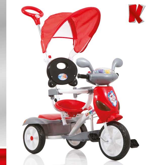 Ποδηλατάκι Vespa Red-Black Kiddo 12012-6 βόλτα   ασφάλεια   ποδήλατα   τρίκυκλα ποδήλατα
