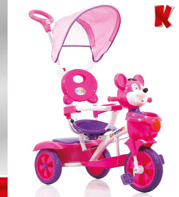 Ποδηλατάκι Teddy Bear Teddy Bear Fuchsia-Purple Kiddo 12013-2 βόλτα   ασφάλεια   ποδήλατα   τρίκυκλα ποδήλατα