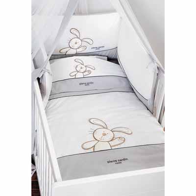 Σέτ προίκα Bunny Grey 127 Pierre Cardin home   away   λευκά είδη βρεφικά   σέτ προίκας μωρού