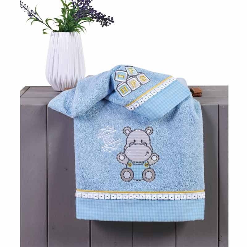Σετ πετσέτες βρεφικές 2 τμχ Hippo Kentia