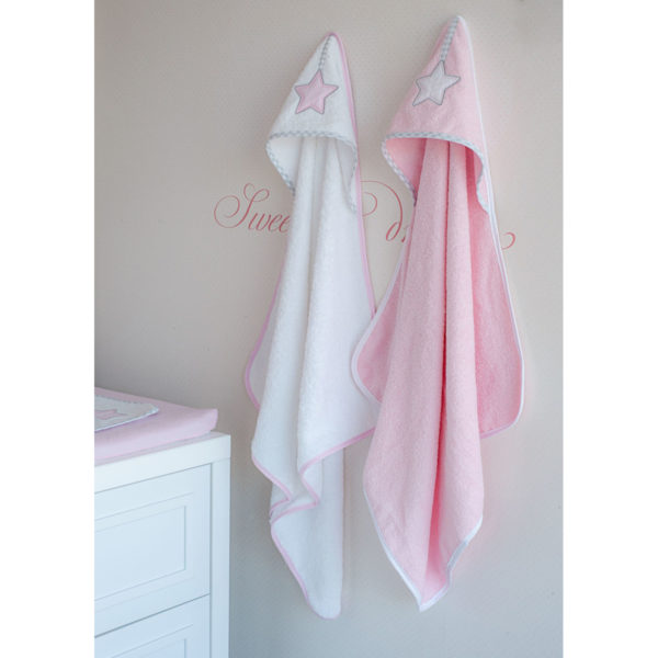 Baby Oliver Μπουρνούζι κάπα Lucky star pink des.308