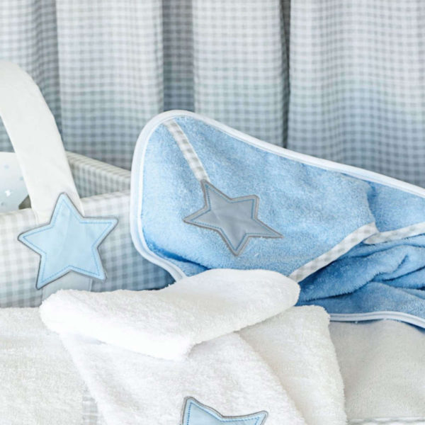 Baby Oliver Μπουρνούζι κάπα Lucky star blue des.309