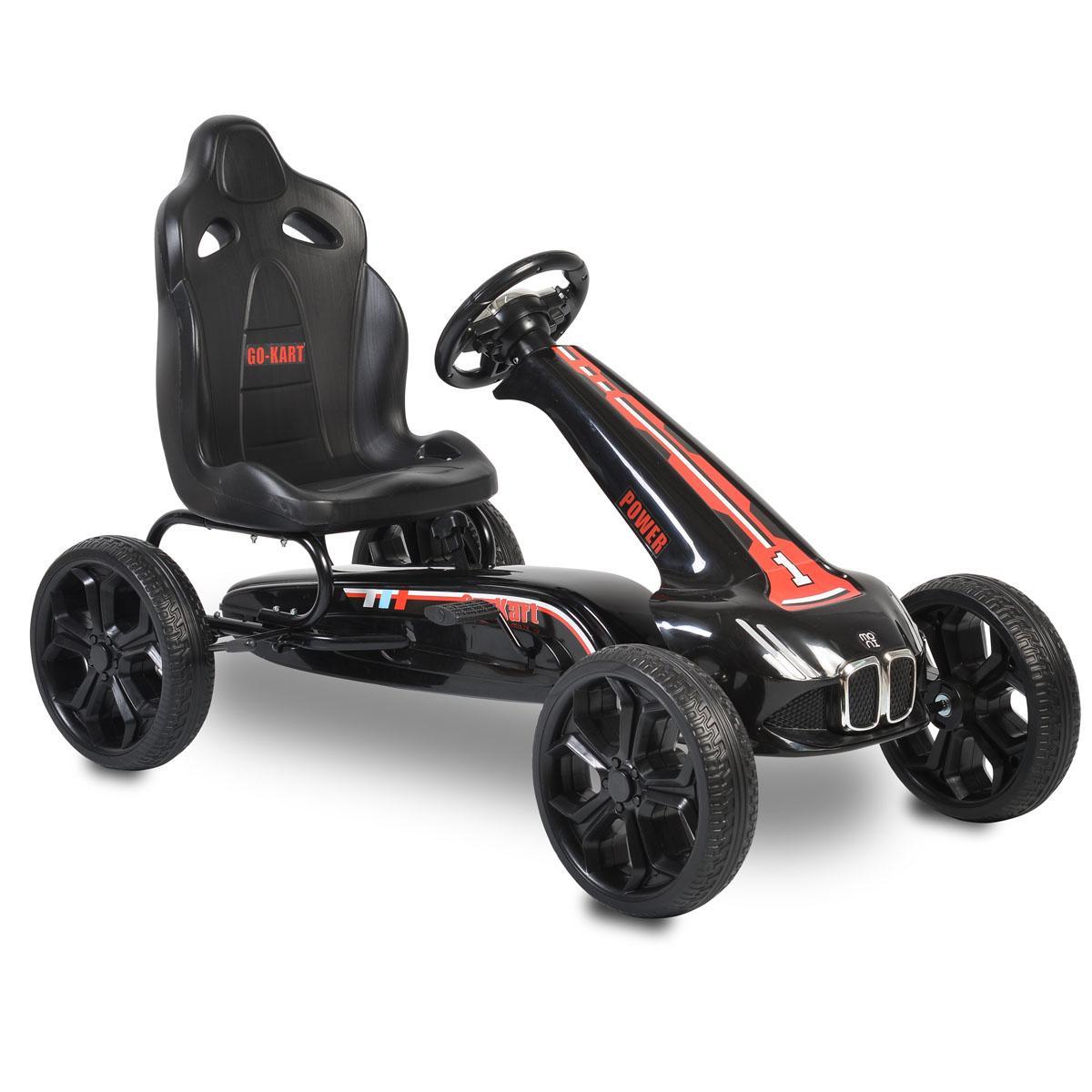 Cangaroo Αυτοκινητάκι με πετάλια Go Cart– Monte Carlo black