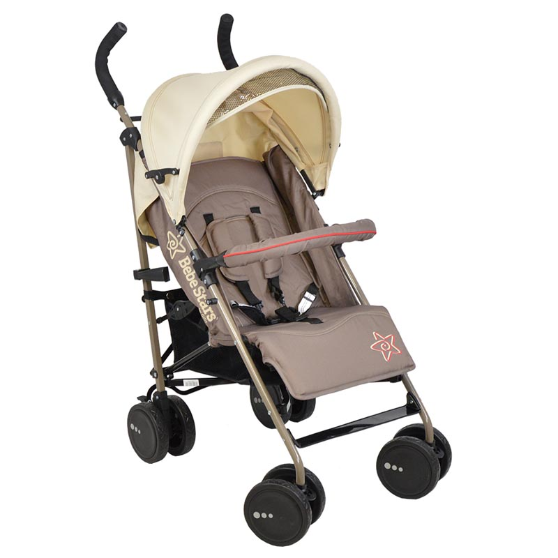 Καρότσι Smart Bebe Stars Beige 184-182 βόλτα   ασφάλεια   μετακινηση με καροτσι   παιδικά καρότσια ελαφριού τύπου