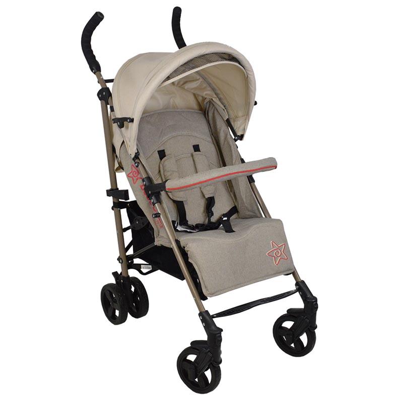 Καρότσι Adam Bebe Stars Beige 185-182 βόλτα   ασφάλεια   μετακινηση με καροτσι   παιδικά καρότσια ελαφριού τύπου