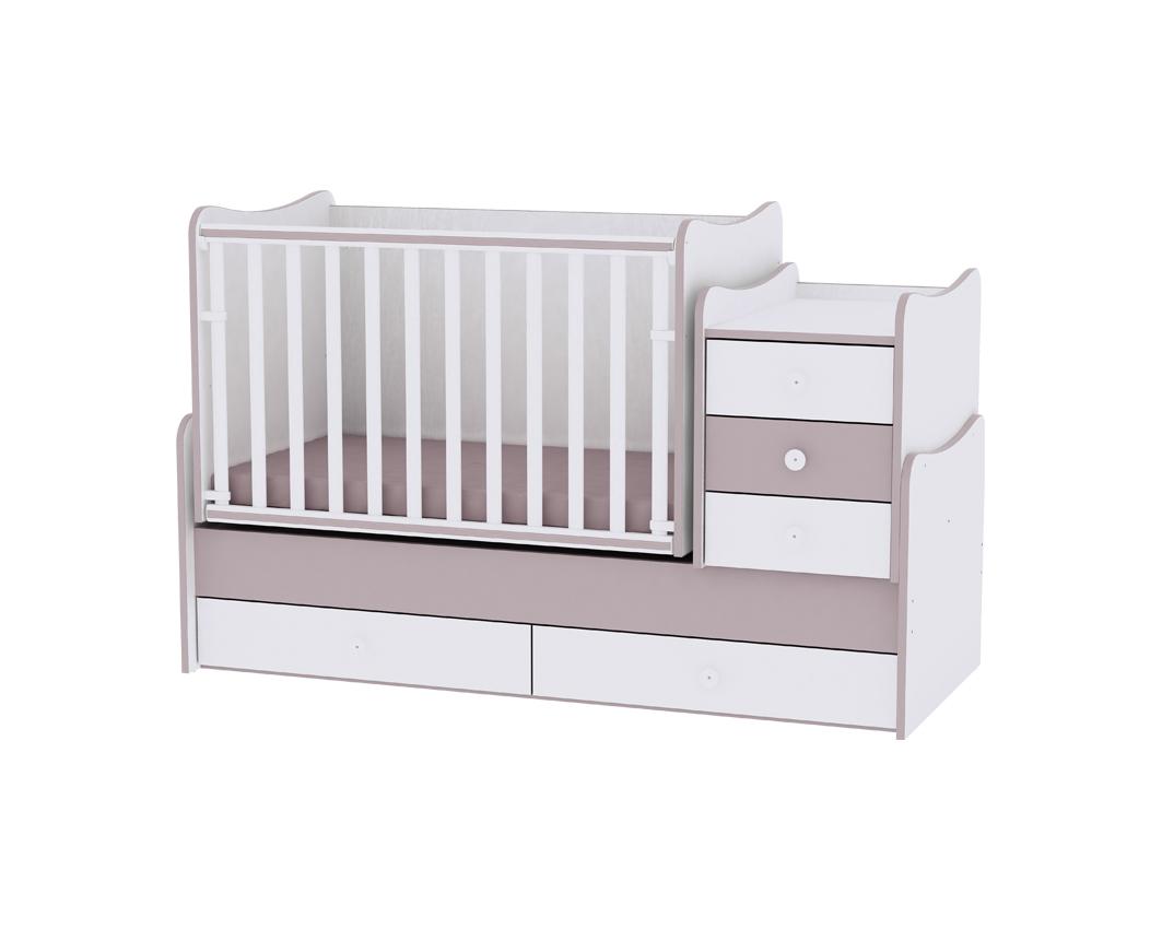 Πολυμορφικό Μετατρεπόμενο Παιδικό Κρεβάτι Maxi Plus White/Cappuccino Lorelli