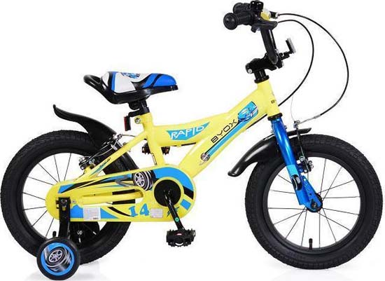 """Παιδικό Ποδήλατο Byox Rapid 14"""" Yellow Cangaroo"""