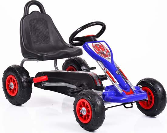 Παιδικό Αυτοκινητάκι Go Kart Falcon 6605 with Air Wheels Blue Cangaroo
