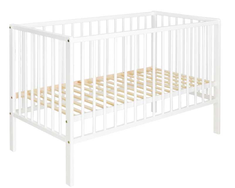 Just Baby Βρεφικό Κρεβάτι Basic Λευκό 2113W
