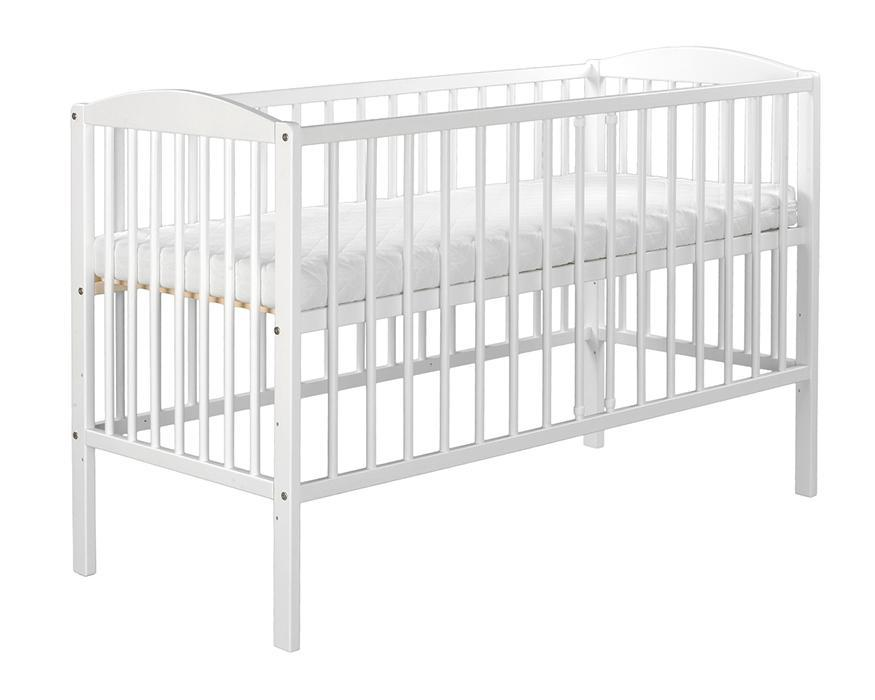 Just Baby Just Baby Βρεφικό Κρεβάτι New Basic Λευκό 2133W home   away   παιδικο δωματιο