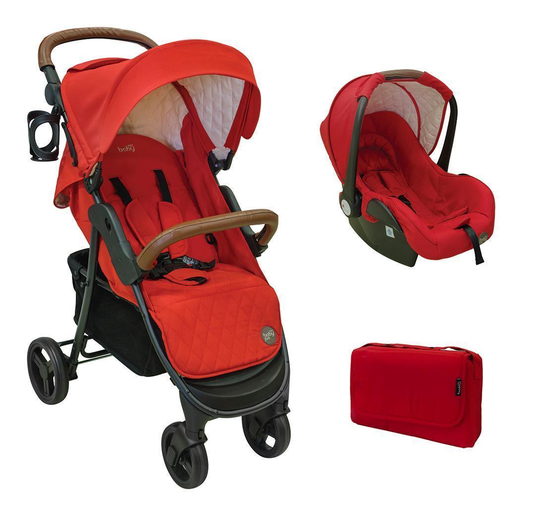 Just Baby Βρεφικό Καρότσι Joe Red βόλτα  ασφάλεια μετακινηση με καροτσι σύστημα μεταφοράς