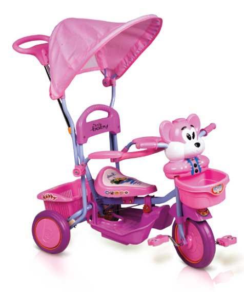 Just Baby Παιδικό ποδηλατάκι Happy Bear Pink JB2330-2 βόλτα   ασφάλεια   ποδήλατα   τρίκυκλα ποδήλατα