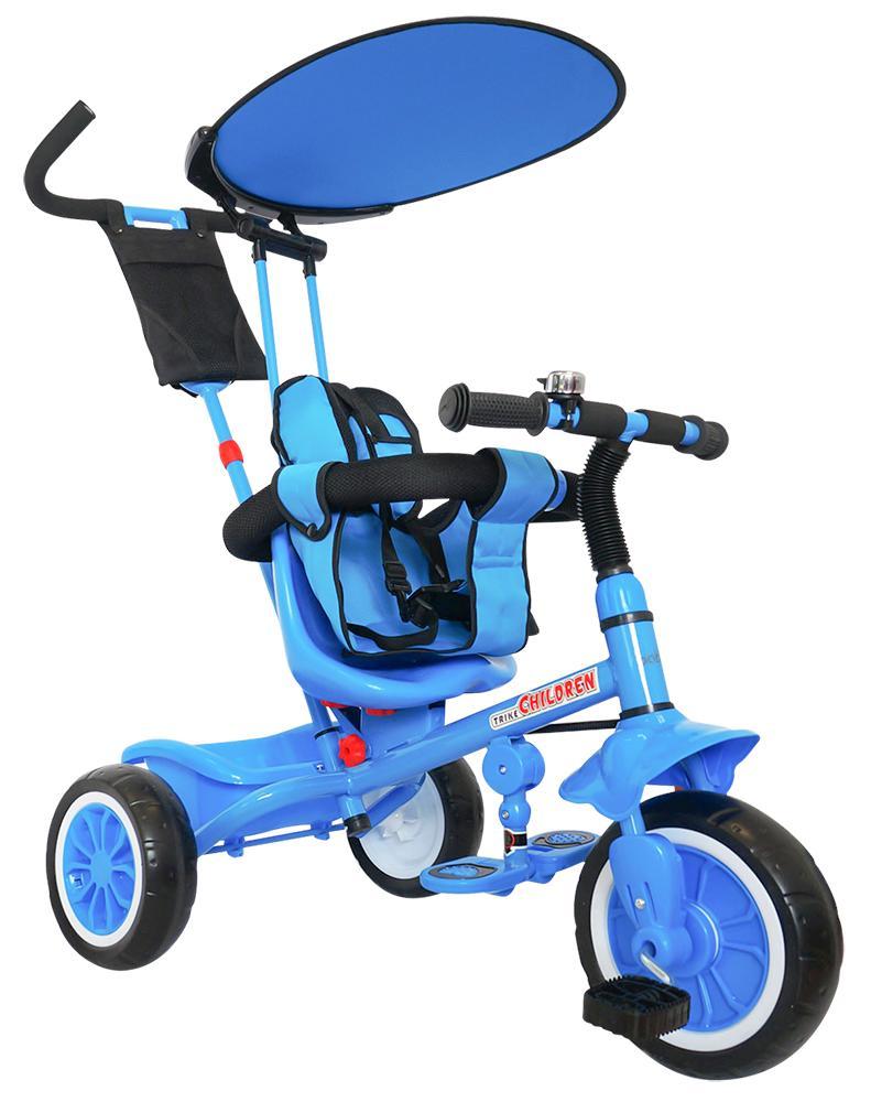Just Baby Τρίκυκλο ποδηλατάκι Leader 2430 Blue Just Baby βόλτα   ασφάλεια   ποδήλατα   τρίκυκλα ποδήλατα