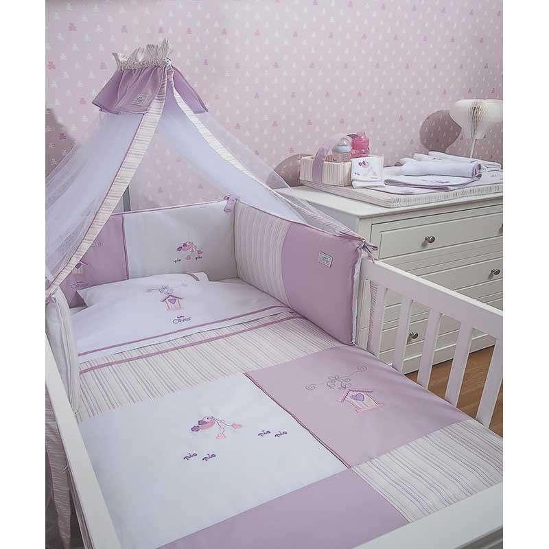 Σετ προίκας Μωρού 3 τμχ Baby Oliver Lilac Dream Birds Design 300