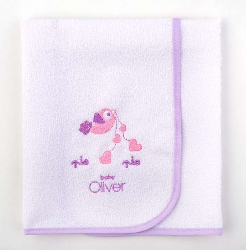 Σελτεδάκι Βρεφικό Baby Oliver Lilac Dream Birds Design 300