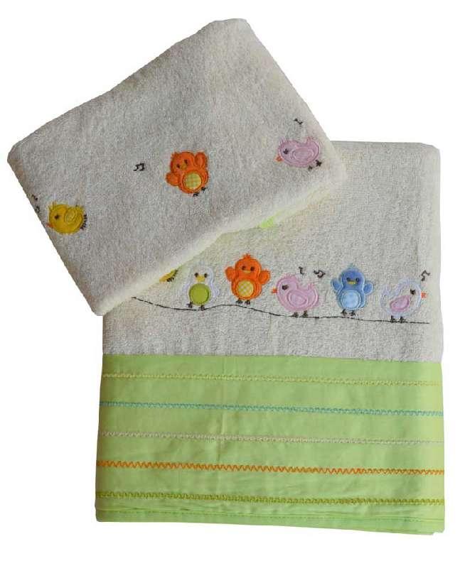Σετ βρεφικές πετσέτες Little birds Bebe Stars home   away   λευκά είδη   λευκά είδη βρεφικά   πετσέτες βρεφικές