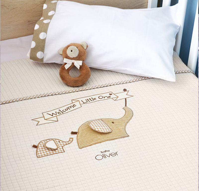 Κουβέρτα Πικέ Κούνιας Welcome Little One Design 302 Baby Oliver