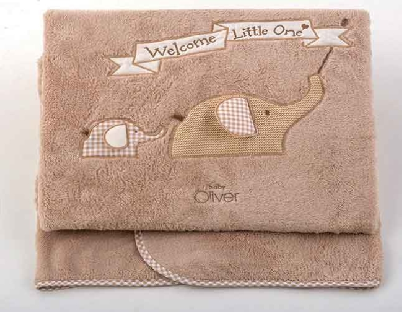 Κουβέρτα Fleece Αγκαλιάς Welcome Little One Design 302 Baby Oliver