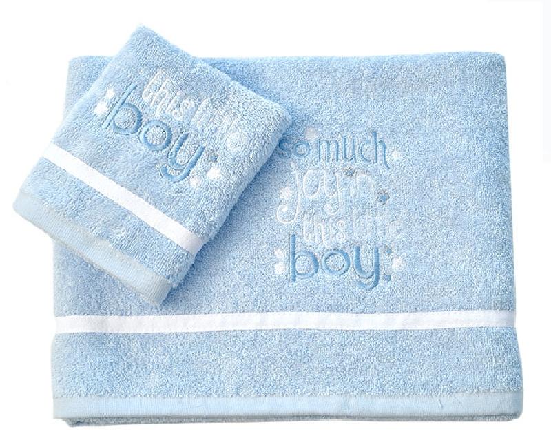 Σετ Πετσέτες Βρεφικές 2 Τεμ My Little Blue Joy Design 303 Baby Oliver home   away   λευκά είδη βρεφικά   βρεφικές πετσέτες