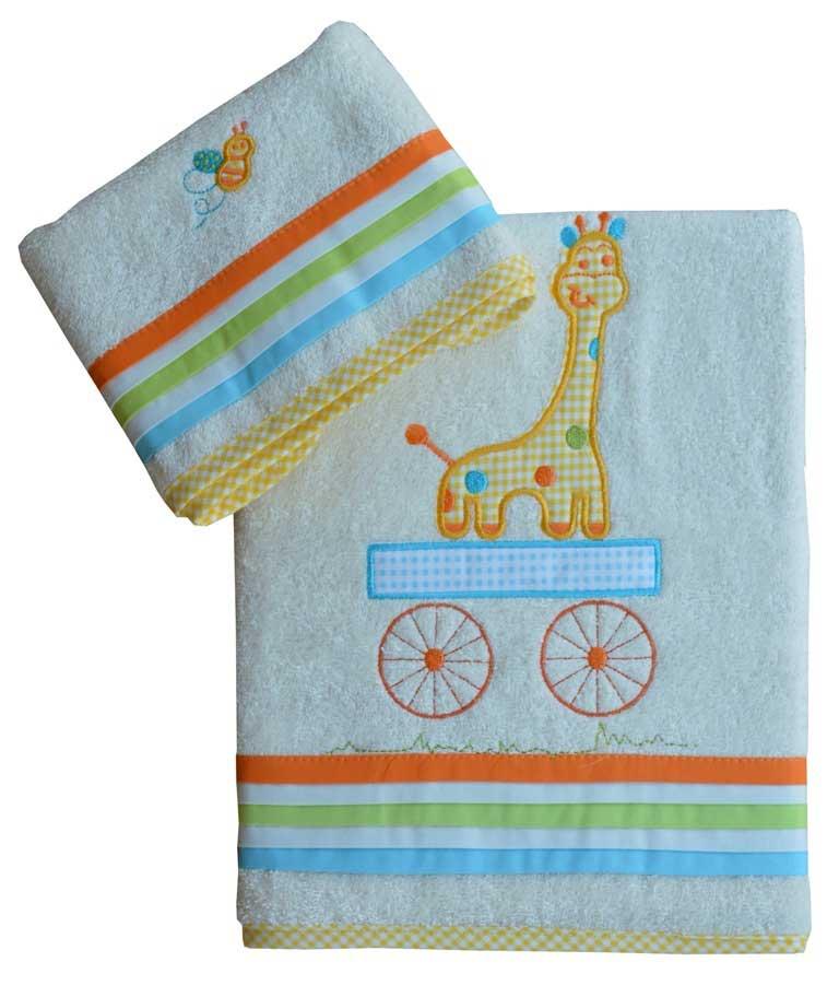 Σετ βρεφικές πετσέτες Safari Bebe Stars home   away   λευκά είδη βρεφικά   βρεφικές πετσέτες