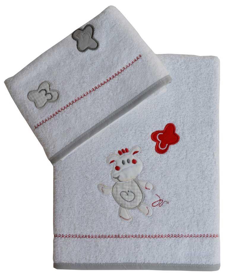 Σετ βρεφικές πετσέτες Happy cowi Bebe Stars home   away   λευκά είδη βρεφικά   βρεφικές πετσέτες