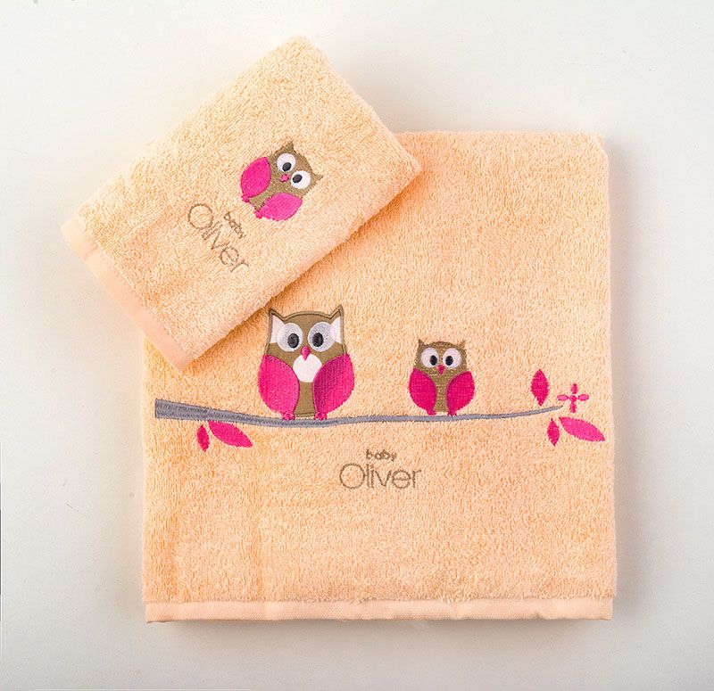 Σετ Πετσέτες Βρεφικές 2 Τεμ Σχέδιο 492 Baby Oliver home   away   λευκά είδη βρεφικά   βρεφικές πετσέτες