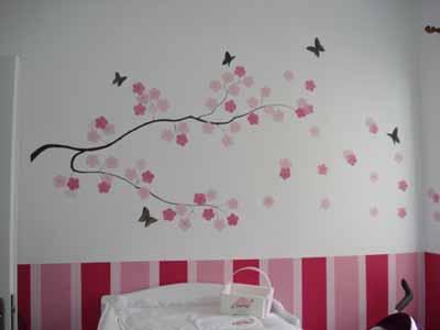 Τοιχοζωγραφιά ανθισμένη αμυγδαλιά byToixo-Toixo home   away   ζωγραφική δωματίου