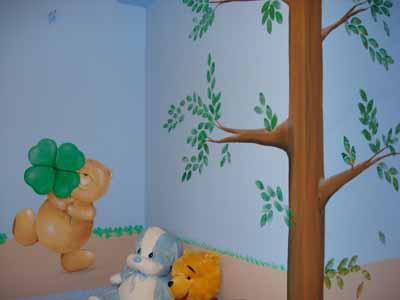 Τοιχοζωγραφιά αρκουδάκια byToixo-Toixo home   away   ζωγραφική δωματίου