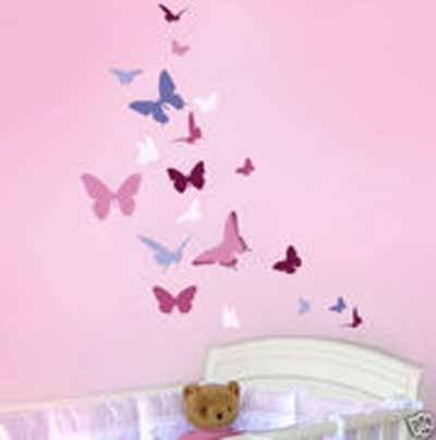 Τοιχοζωγραφιά πεταλούδες byToixo-Toixo home   away   ζωγραφική δωματίου