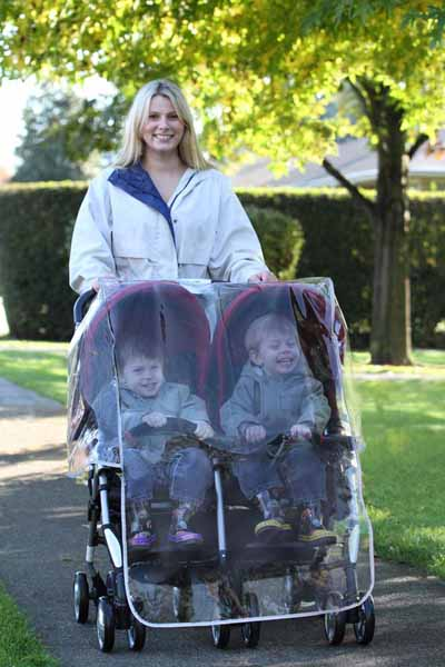 Προστατευτικό βροχής για καρότσι διδύμων Double Stroller Rain Co βόλτα   ασφάλεια   μετακινηση με καροτσι   καρότσια αξεσουαρ