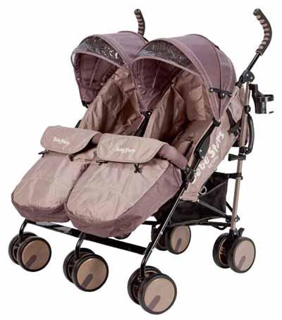 Twin lux Bebe Stars ΧΡΩΜΑ Μπέζ βόλτα   ασφάλεια   μετακινηση με καροτσι   βρεφικά καρότσια διδύμων