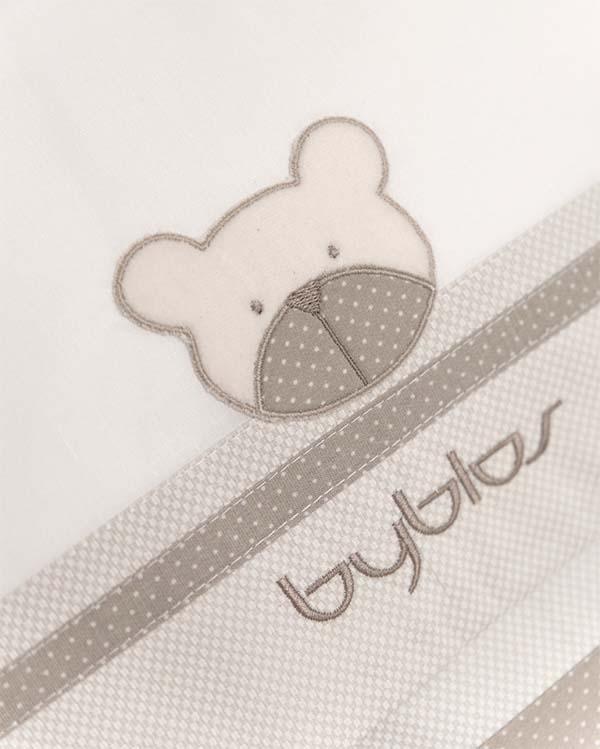 Σχέδιο Προίκας Design 81 Amici Beige Byblos home   away   λευκά είδη   λευκά είδη βρεφικά   σεντόνια βρεφικά