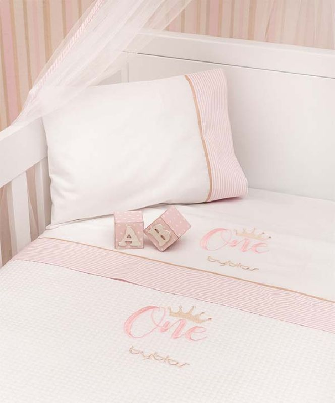 Βρεφική Κουβέρτα Κούνιας Πικέ Design 83 One Pink Byblos home   away   λευκά είδη βρεφικά   βρεφικές κουβέρτες