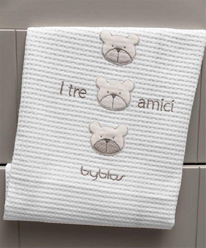 Βρεφική Κουβέρτα Κούνιας Πικέ Design 81 Amici Beige Byblos