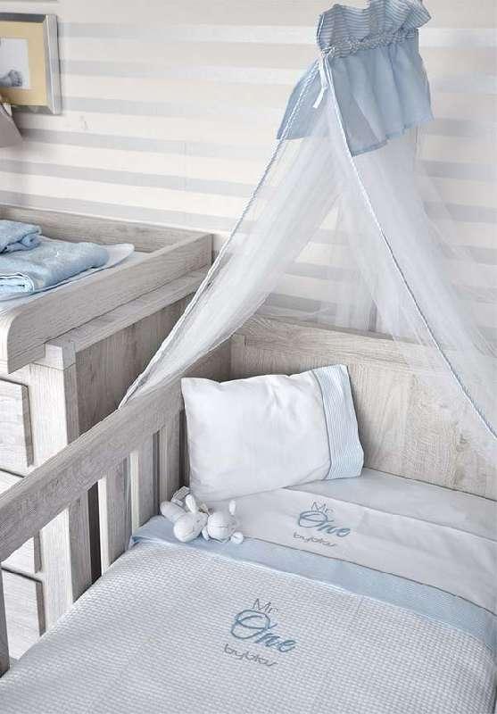 Βρεφική Κουβέρτα Κούνιας Πικέ Design 82 Mr One Blue Byblos home   away   λευκά είδη βρεφικά   βρεφικές κουβέρτες