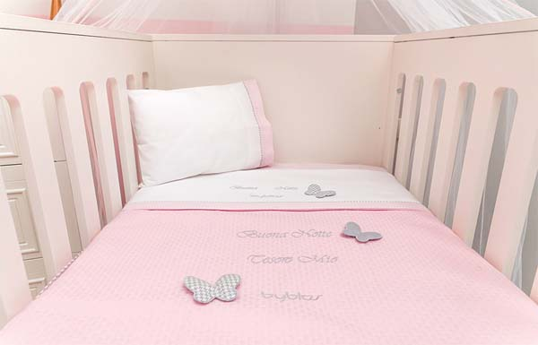Βρεφική Κουβέρτα Αγκαλιάς Πικέ Design 84 Butterfly Byblos home   away   λευκά είδη βρεφικά   βρεφικές κουβέρτες