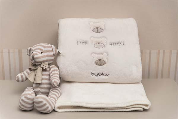 Βρεφική Κουβέρτα Κούνιας Velour Design 81 Amici Beige Byblos